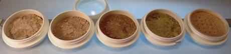 Mineral Kosmetik in unzähligen Farbnuancen (kleine Auswahl)