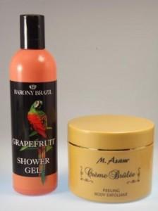 Village Cosmetics Shower Gel & M.Asam Peeling