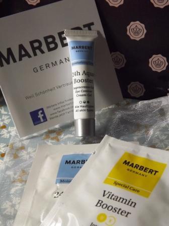 Drei Kosmetikproben von MARBERT in der Glossy