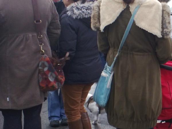Neue Mode mit Handtasche