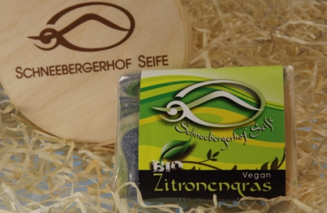 Vegane Seife mit Zitronengras