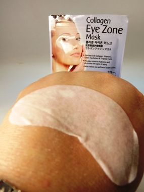 Getränkte Collagen Pads gegen Augenschwellungen und Augenfalten