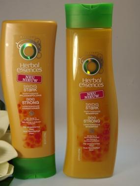 Neue Haarpflege Herbal essences Seidig Stark kräftigt Haar