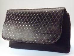 Elegante Clutch Tasche mit Goldfäden