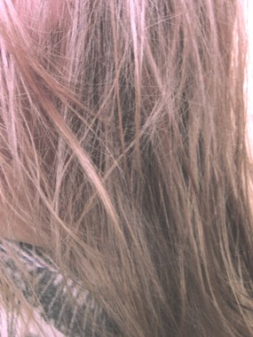 Frisch geölte Haare