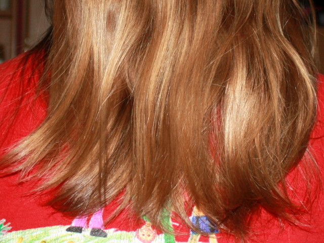 Haare einige Minuten nach dem Fetten
