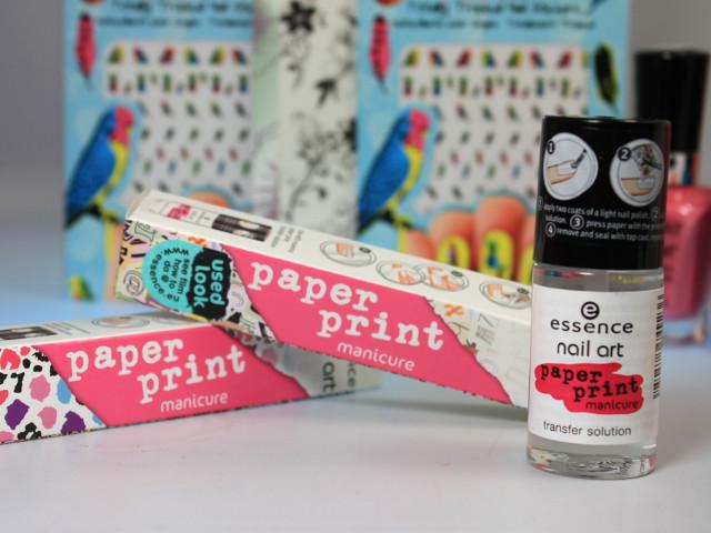 paper print manicure