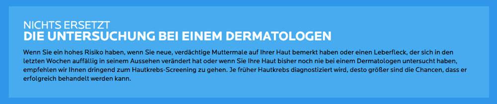 Verdacht auf Hautkrebs - Nichts ersetzt den Dermatologen