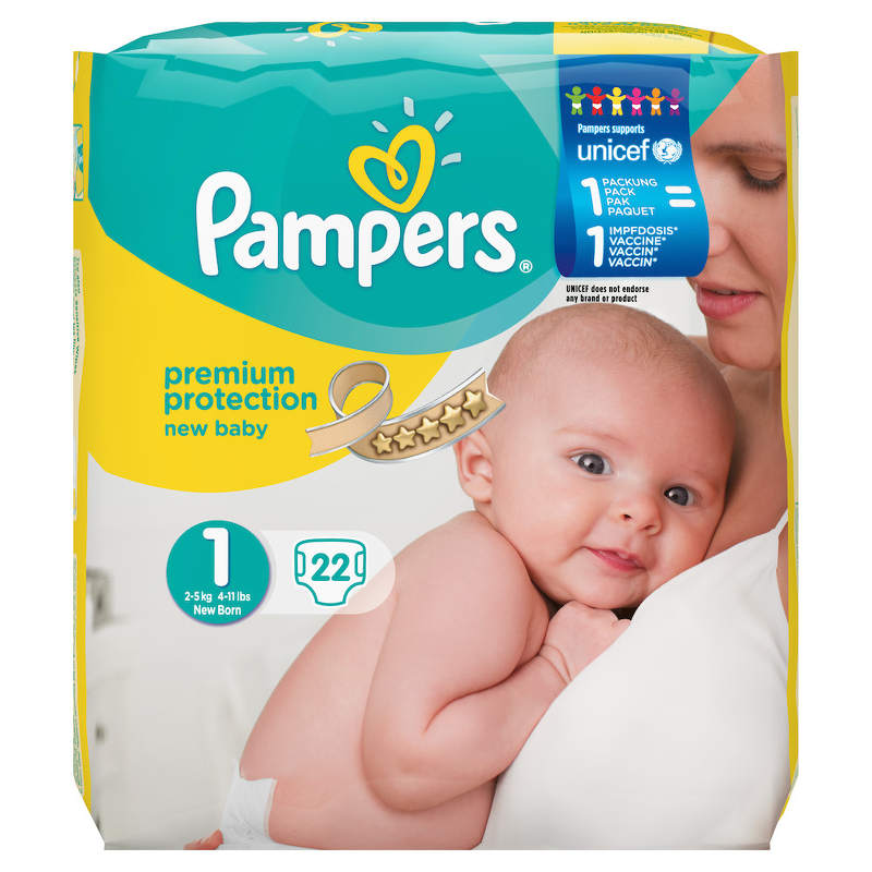 Pampers Aktionspackung mit UNICEF Logo