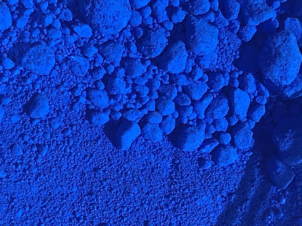 Mineralisches Pigment Ultramarinblau - eine Grundzutat zum Mineralfoundation selber herstellen
